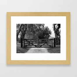 Pearly Gates Framed Art Print