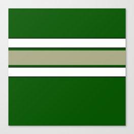 TEAM COLORS 2...GREEN,TAN Canvas Print