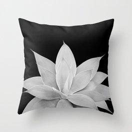 Gray Agave on Black #2 #tropical #decor #art #society6 Throw Pillow
