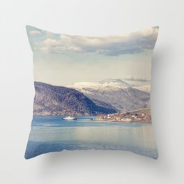 Sognefjord II Throw Pillow