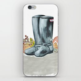 Fall boots  iPhone Skin
