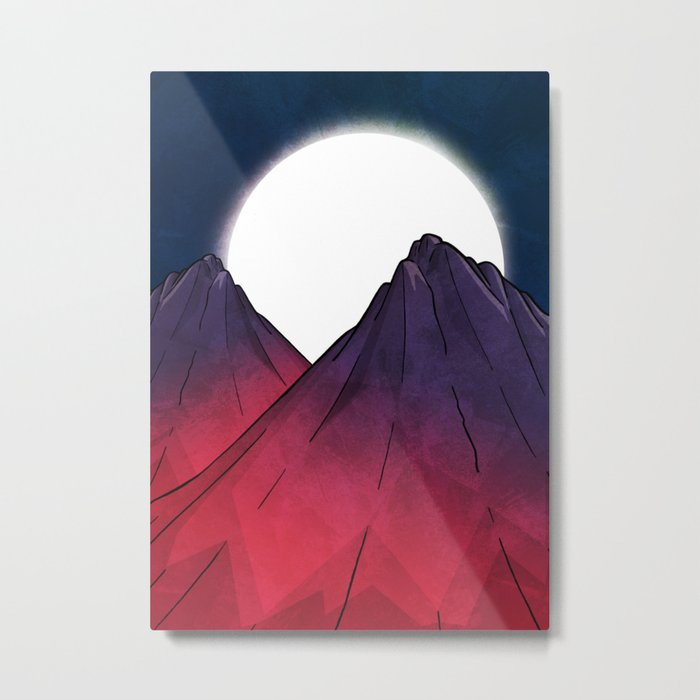 Midnight Mountains Metal Print