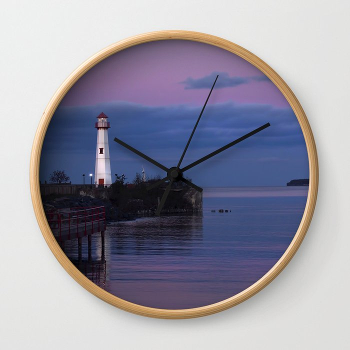 The Lighthouse in St. Ignace Wall Clock
