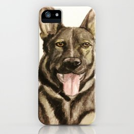 German Shepherd Custom Pet Portrait iPhone Case
