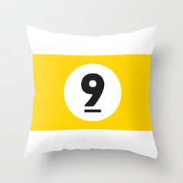 9 ball yellow Throw Pillow