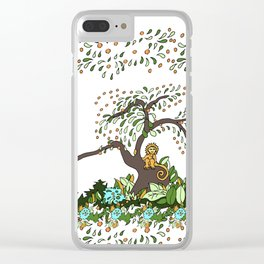 Jungle Monkey Clear iPhone Case
