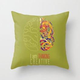 I am thinking Creative Throw Pillow