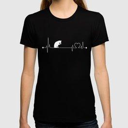 Cat-tshirt,-i-love-Cat-heart-beat T-shirt