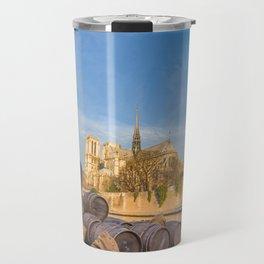 Docks of Notre Dame in Paris Travel Mug