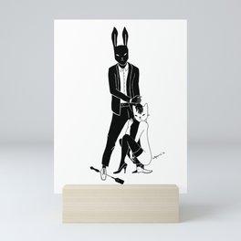 Mr Bunny is cruel Mini Art Print
