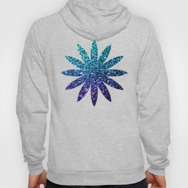 Beautiful Aqua blue Ombre glitter sparkles Hoody