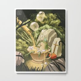 Bubble Tea Bath Metal Print
