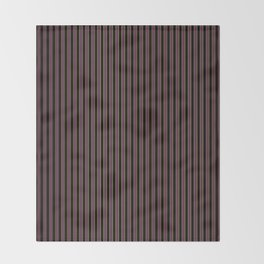 Thin Golden Pinstripe on Royal Purple and Black Throw Blanket