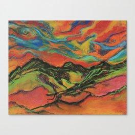 Electric Mountains Canvas Print