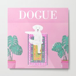 Dogue - Yoga Metal Print