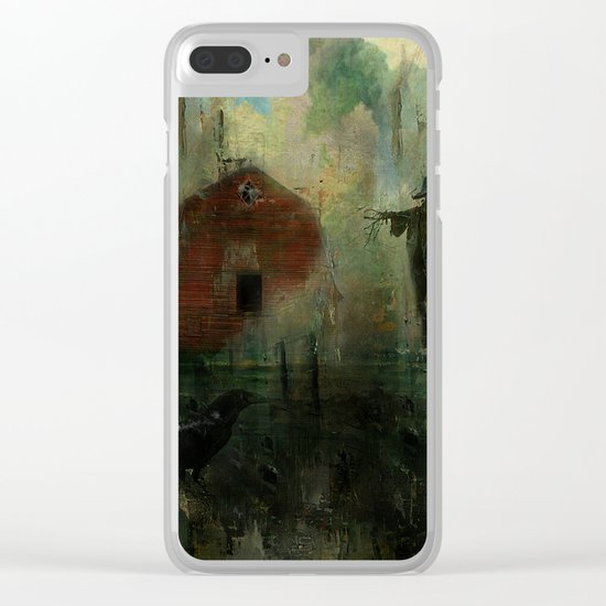 The crow and the Scarecrow Clear iPhone Case