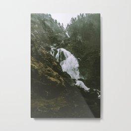 Folgefonna Falls Metal Print