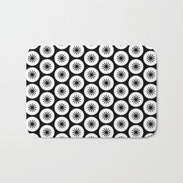 Geometric Pattern 246 (stars in circles 2) Bath Mat