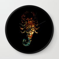 drive Wall Clocks featuring Drive by Carlo Spaziani