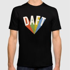 Letters : Daft II Black Mens Fitted Tee 2X-LARGE