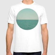 Ocean Dreams White MEDIUM Mens Fitted Tee