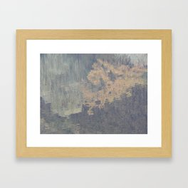 Park late autumn leaves and animals Framed Art Print