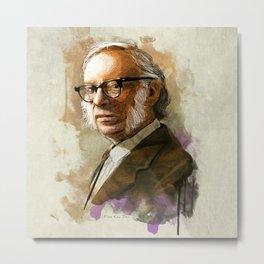 Isaac Asimov Portrait Metal Print