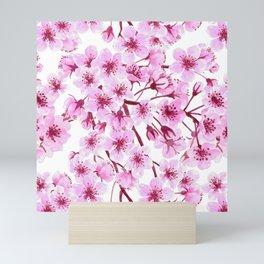 Cherry blossom pattern Mini Art Print