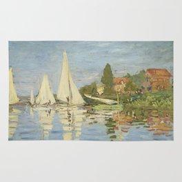 Regattas at Argenteuil by Claude Monet Rug
