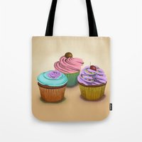 cupcakes Tote Bags featuring Cupcakes!  by Megs stuff...