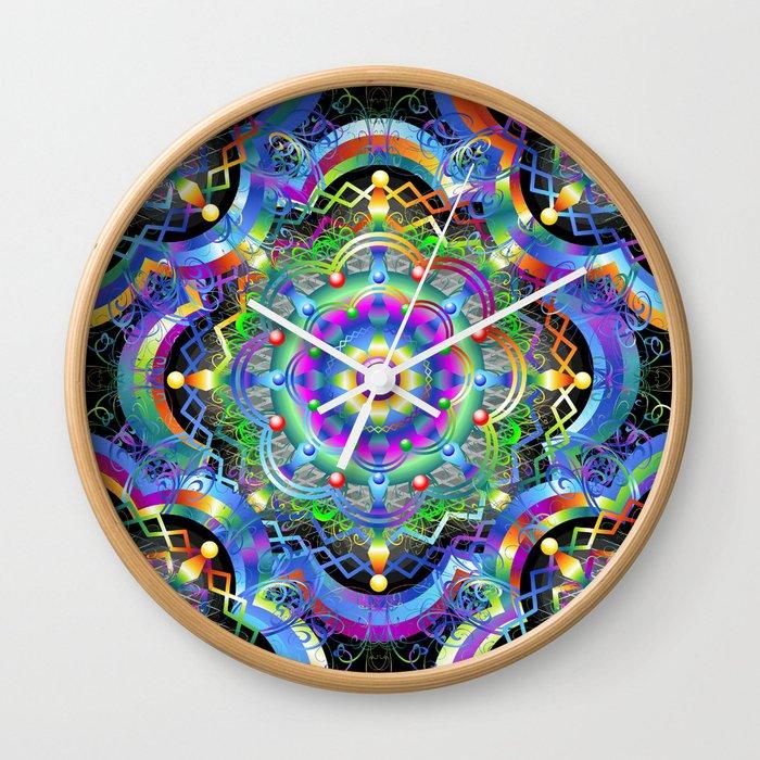 Wall Clock Art Design : Mandala psychedelic art design wall clock by bluedarkatlem