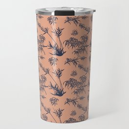 Bamboo Silhouettes in Salmon/Atlantic Navy Travel Mug
