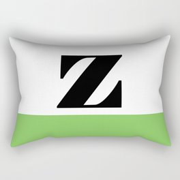 Monogram Letter Z (color block) Rectangular Pillow