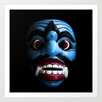 bali Art Prints featuring Bali mask by VanessaGF