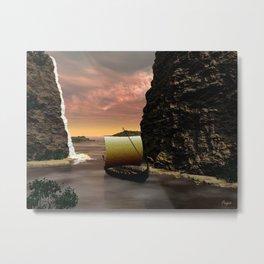 Longboat Metal Print
