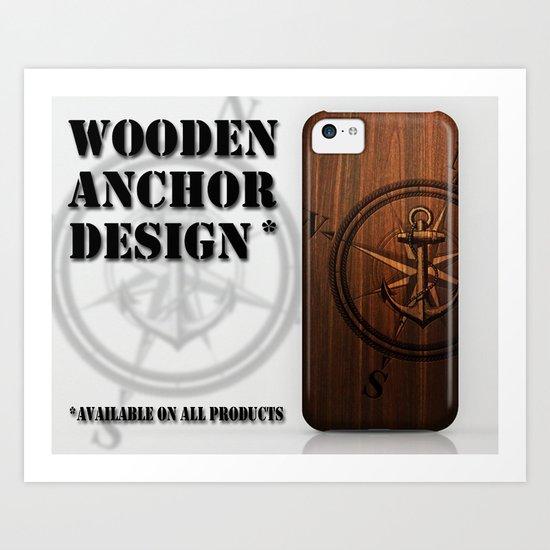 Wooden Anchor Art Print