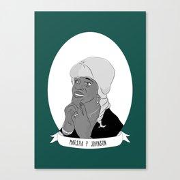 Marsha 'Pay No Mind' Johnson Illustrated Portrait Canvas Print