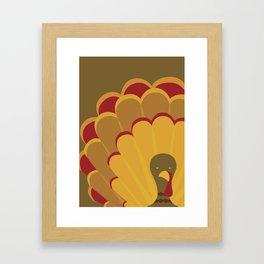 Thanksgiving Turkey Framed Art Print