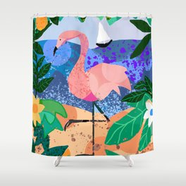 Flamingo Dream Shower Curtain