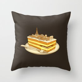 Hungry for Travels: Slice of Paris Throw Pillow