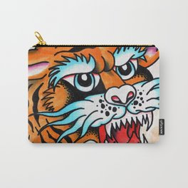 Fierce Tiger - Traditional Tattoo Design Carry-All Pouch