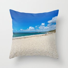 Gunwalloe Fishing Cove Cornwall Throw Pillow