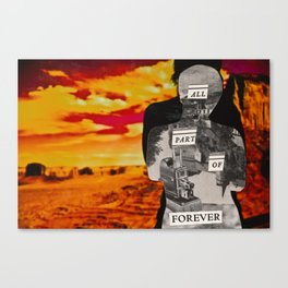All Part Of Forever: Silhouette Series #3 Canvas Print