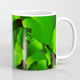 Green frayed abstraction Coffee Mug