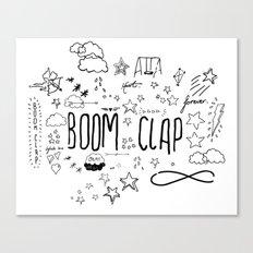 BOOM CLAP Canvas Print