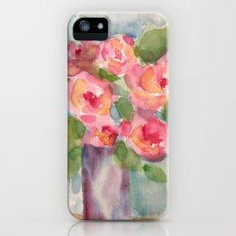 Vase of Roses iPhone Case