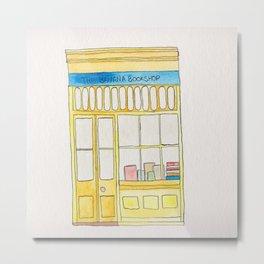 The Banana Bookshop Metal Print