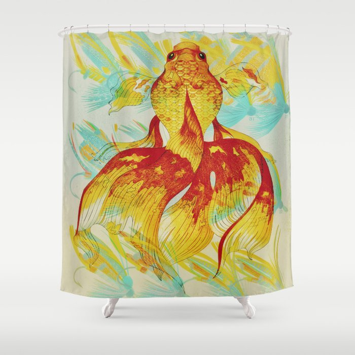 Caught - Fish & Hooks Shower Curtain