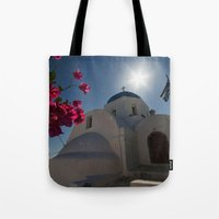 greek Tote Bags featuring Greek Orthodox by Mark Nelson