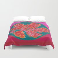 pomegranate Duvet Covers featuring Pomegranate by bravo la fourmi